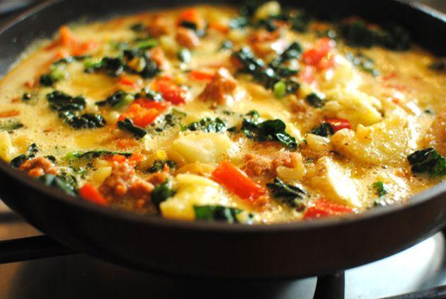 Kale & Italian Sausage Frittata | yum! | Pinterest