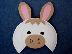 Paper plate donkey mask - photo#4