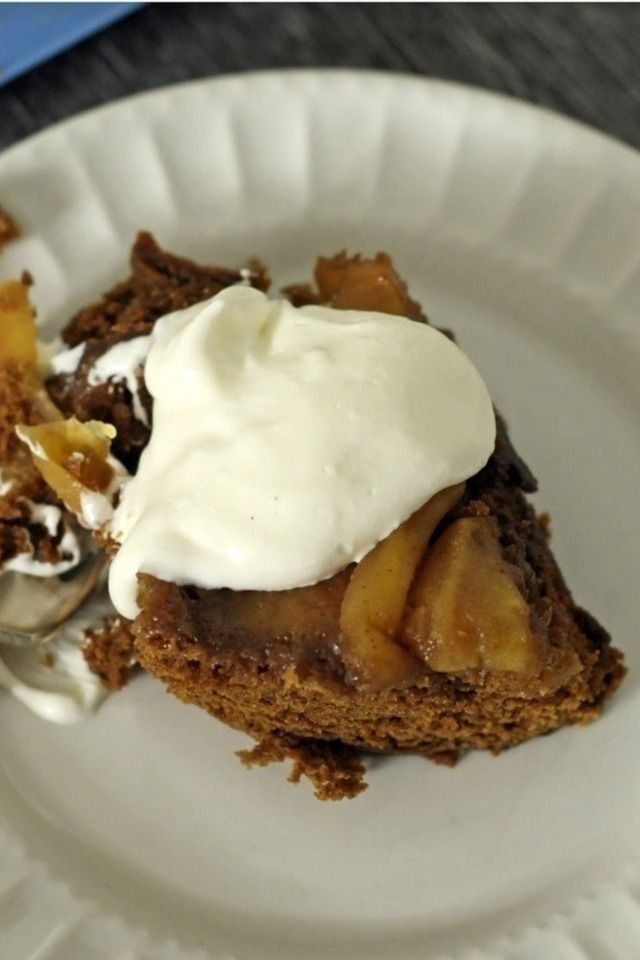 Caramel Apple Gingerbread Upside Down Cake