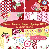 Pink, red, yellow and white florals