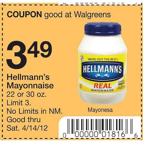 Hellman's mayo coupon printable