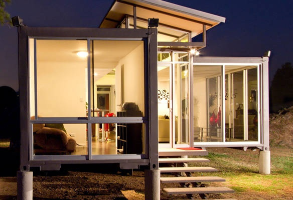 Shipping Container Converted into Home 584 x 400