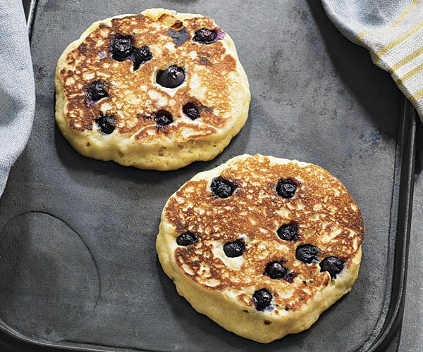 Cornmeal Blueberry Pancakes with Spiced Maple Butter