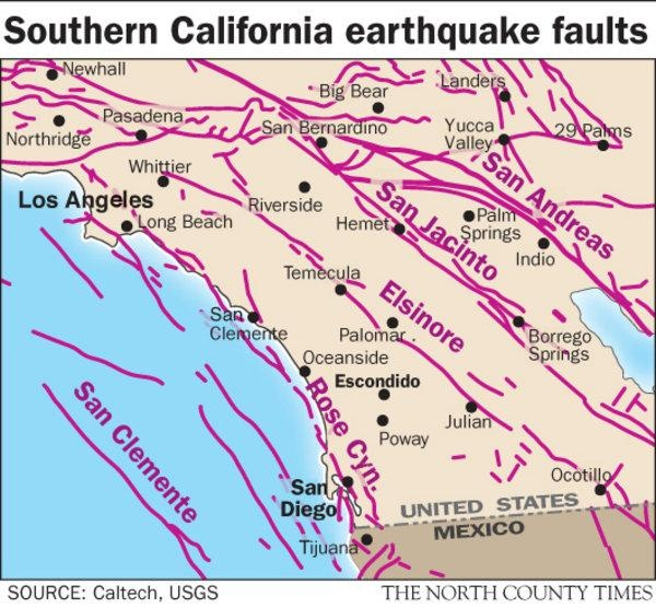 Southern California Earthquake Faults  Hometown  Pinterest