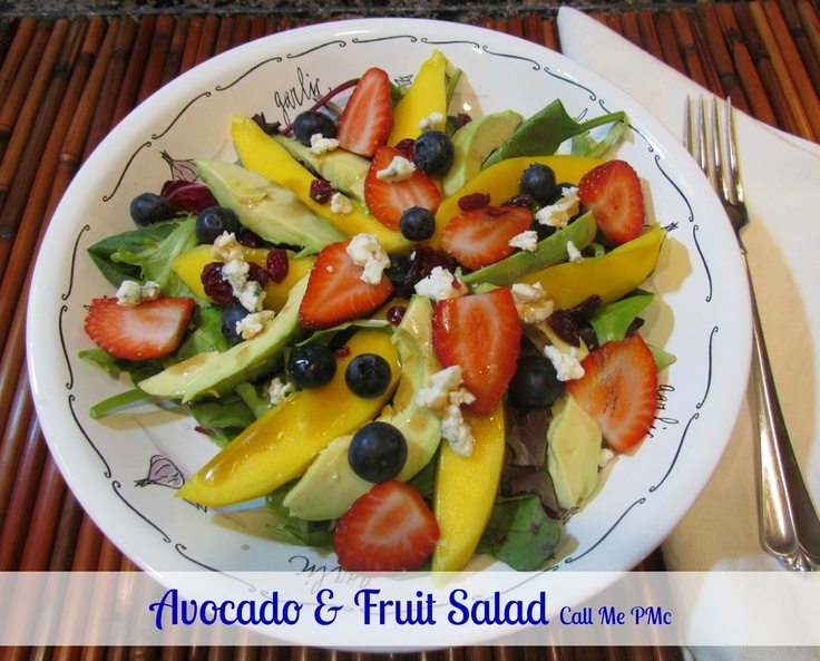 Call Me PMc: Avocado & Fruit Salad with Cranberry Vinaigrette / Call ...