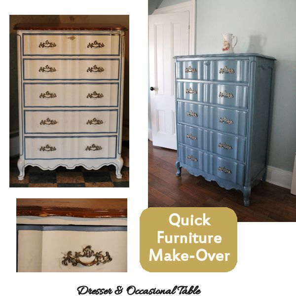 Quick Easy Furniture Make Overs With Spray Paint