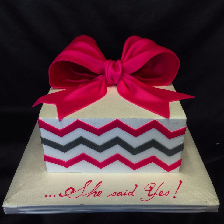 Pin Chevron Pattern With A Fondant Bow Cake Designs I Love