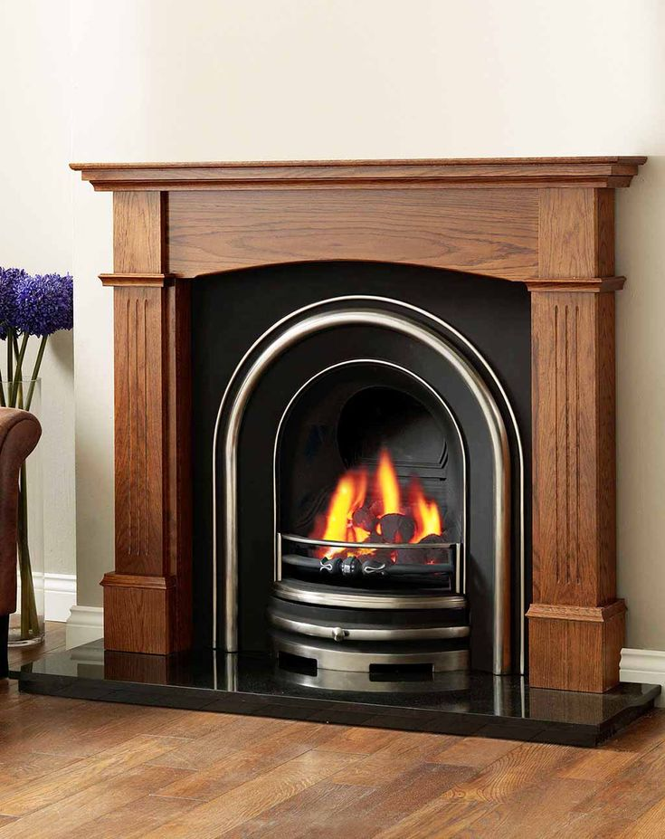 wood fireplace surrounds for the home pinterest
