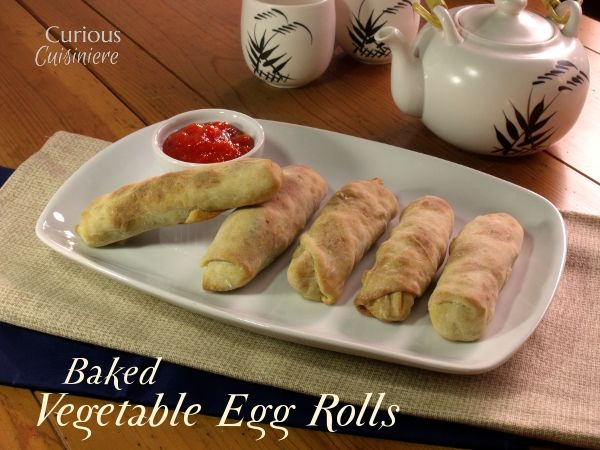 Baked Vegetable Egg Rolls from Curious Cuisiniere #SundaySupper # ...