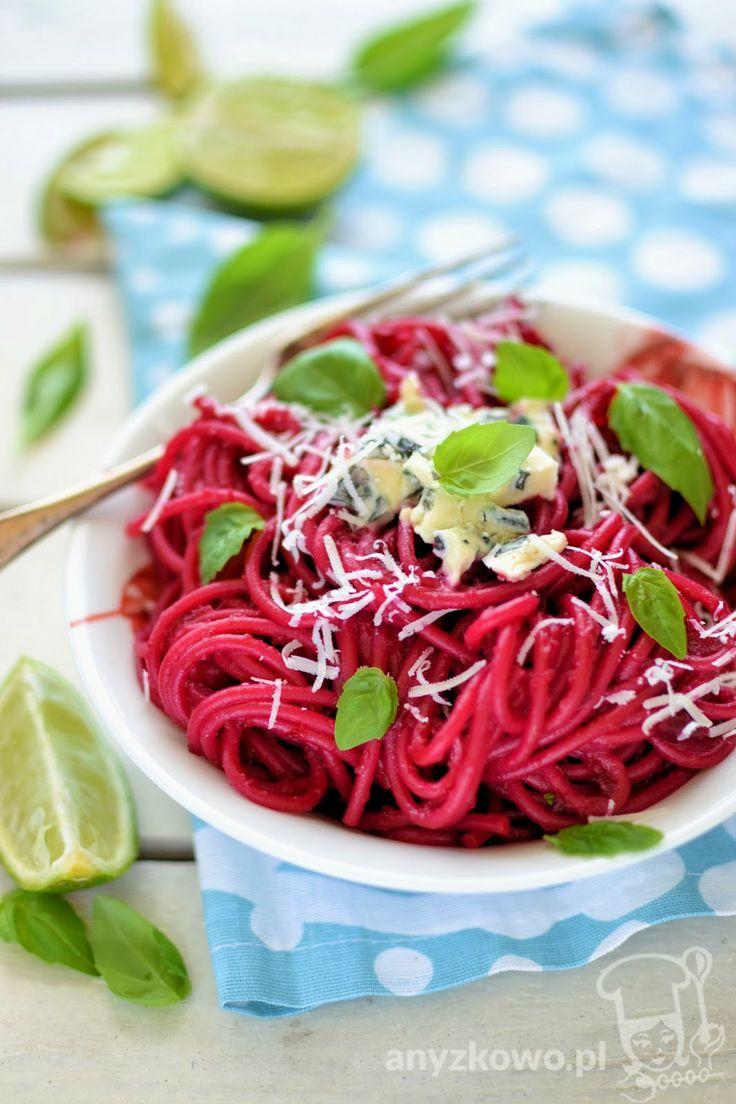 Spaghetti with Beet Pesto   Receitas   Pinterest