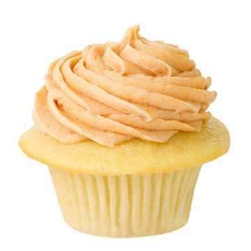 "Pumpkin"" Golden Buttermilk Cupcake with Fresh Pumpkin Icing, also ..."