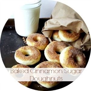 Life With The Crust Cut Off | Baked Cinnamon Sugar Doughnuts