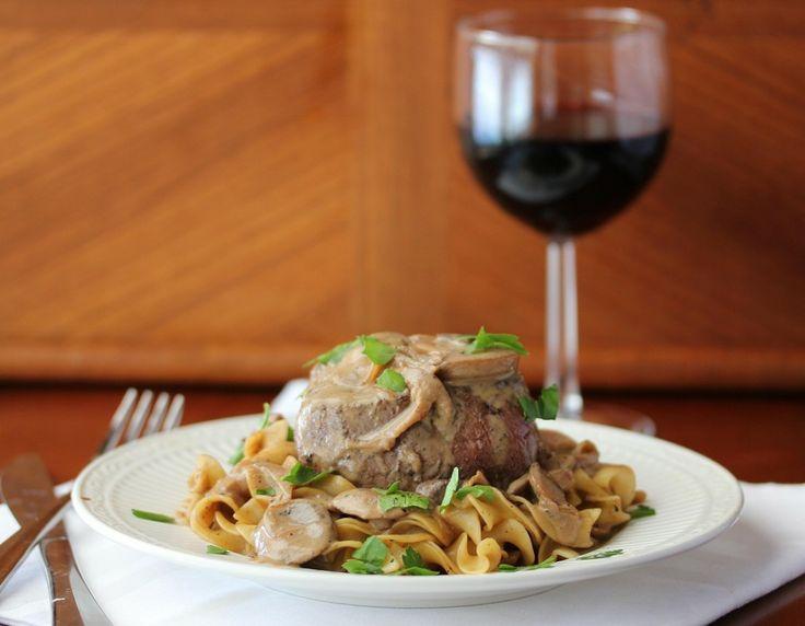 Filet Mignon with Stroganof Sauce | Food - Beef | Pinterest