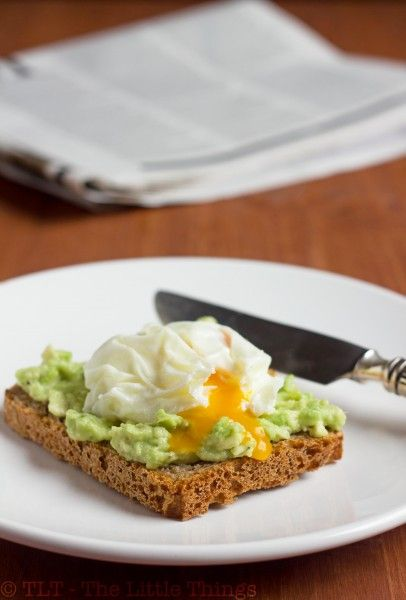 Toast with avacado and poached egg. I'm going to eat so well this ...