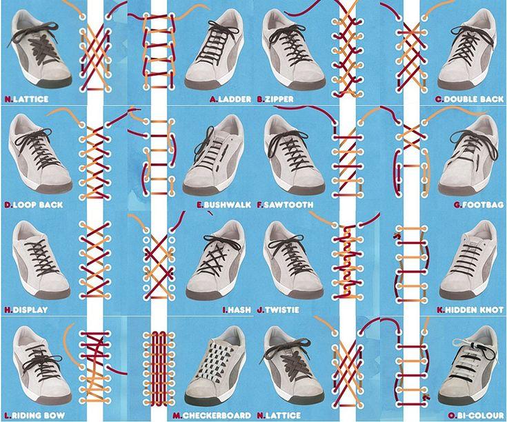 Как сделать шнурки на найках