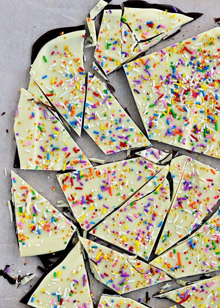 Cake Batter & Sprinkle Bark... It sounds so good!