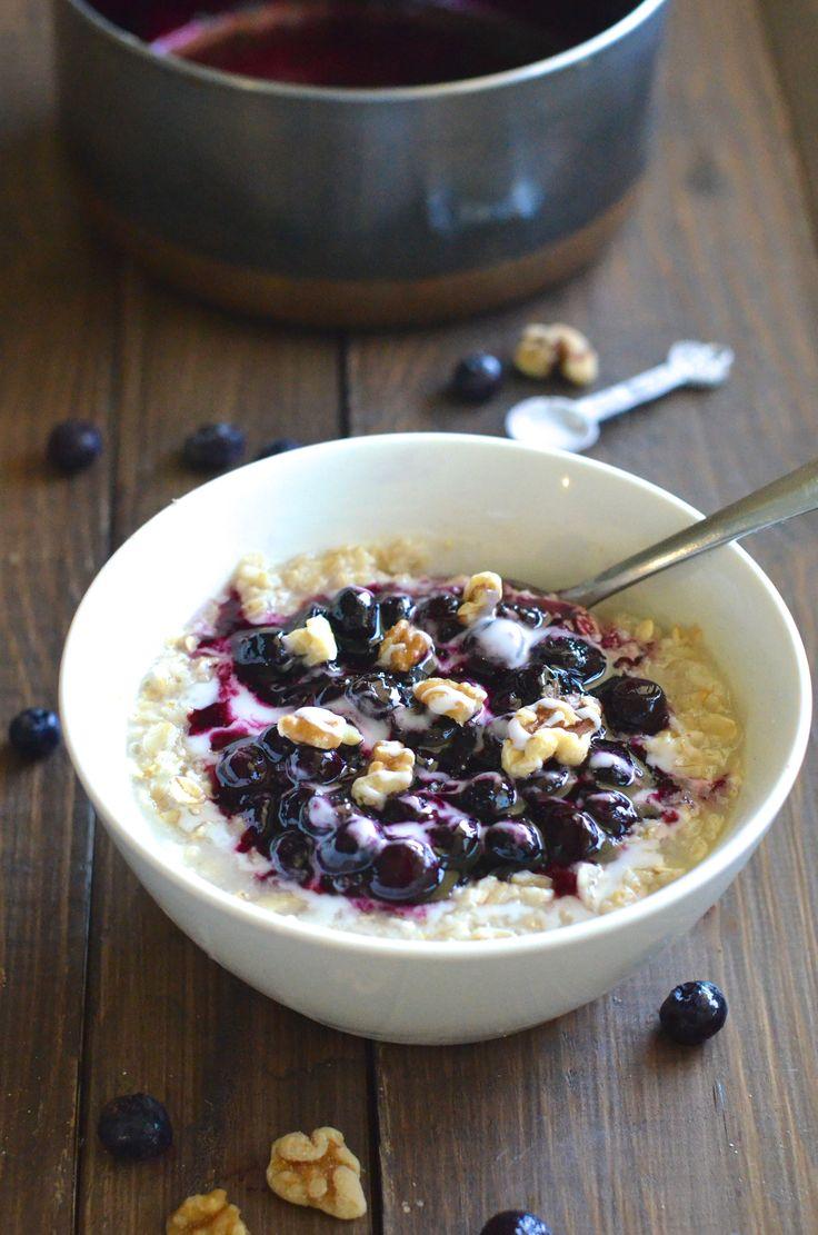 blueberry oatmeal   Yummy   Pinterest
