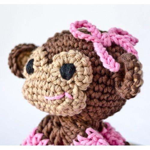 Crochet Baby Blanket Monkey Pattern : Monkey Security Blanket Crochet Pattern Crochet Pattern ...