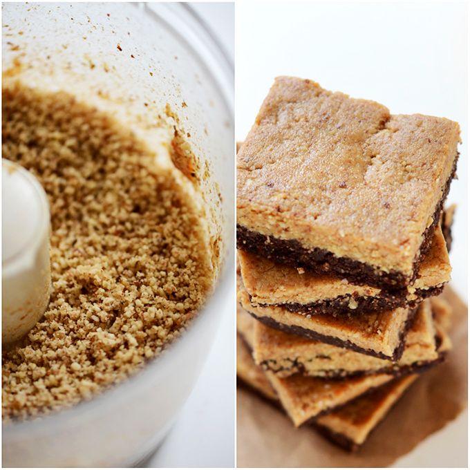 Layer No Bake Peanut Butter Brownie Bars (raw, vegan, gluten free)