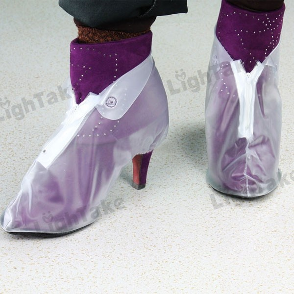 Women's Waterproof Rubber Low Upper Shoes Cover for High Heel Shoes