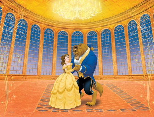 Beauty and the beast dancing disney pinterest for Disney princess ballroom wall mural