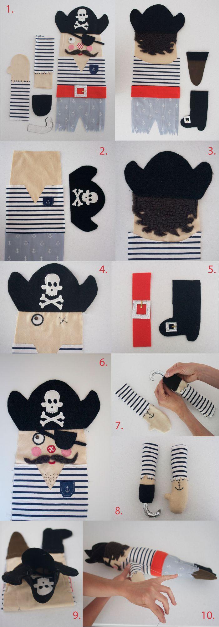 Выкройка куклы пирата
