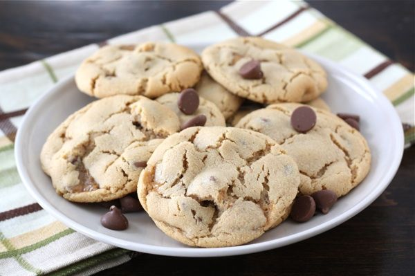 Peanut Butter Snickers cookies. Ingredients: flour, baking soda ...
