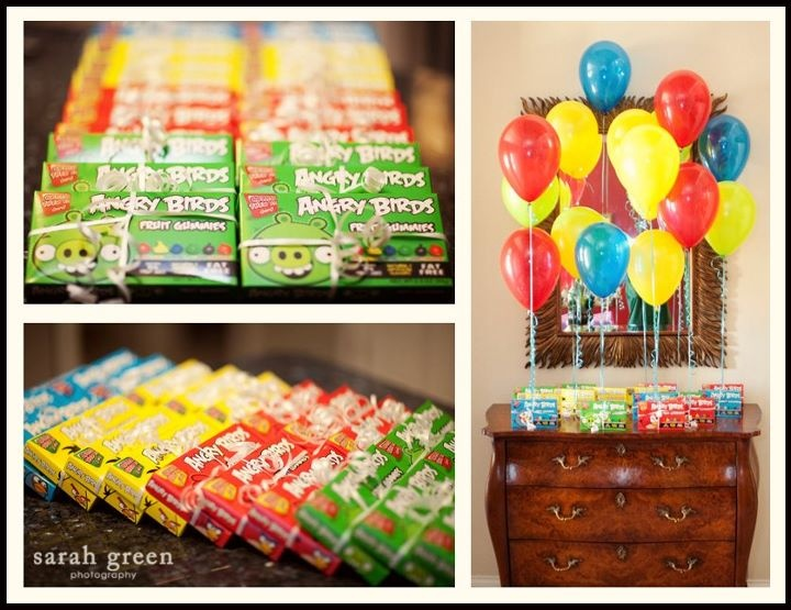Angry birds party favors party ideas pinterest for Angry birds birthday party decoration ideas
