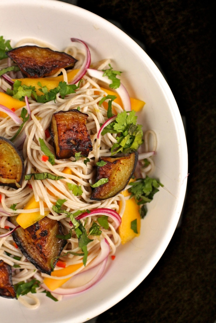 Soba Noodles with Eggplant and Mango - Yotam Ottolenghi | The Bitten ...