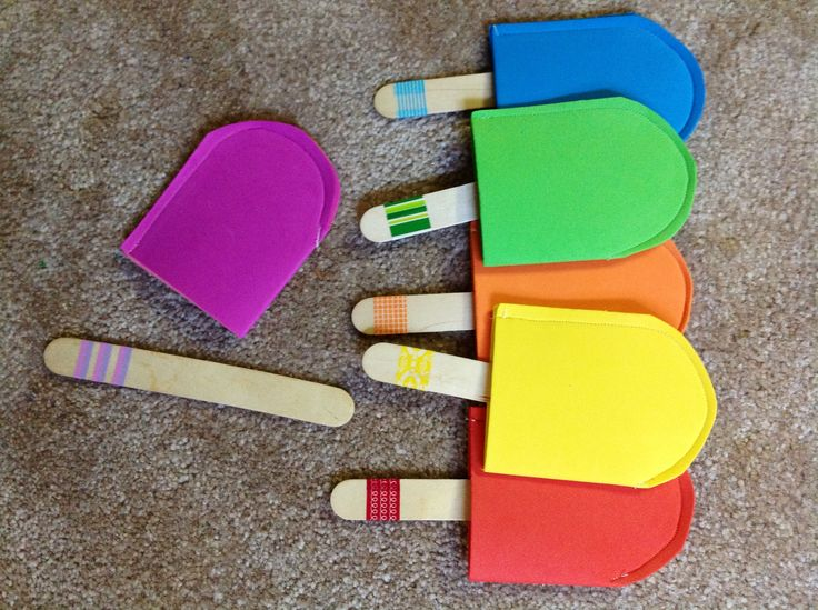 Popsicle matching game for little ones match the foam popsicle to its