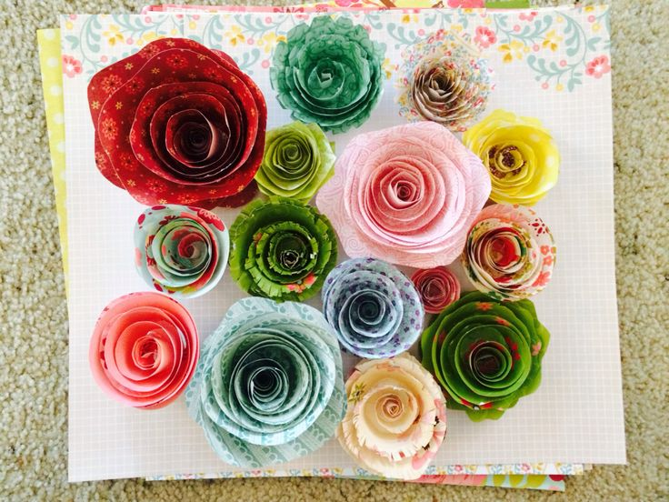 paper flowers for valentine's day
