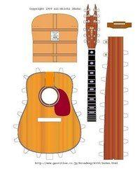 Гитара из картона для куклы своими руками 91