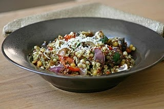 pesto grilled vegetables with Israeli couscous