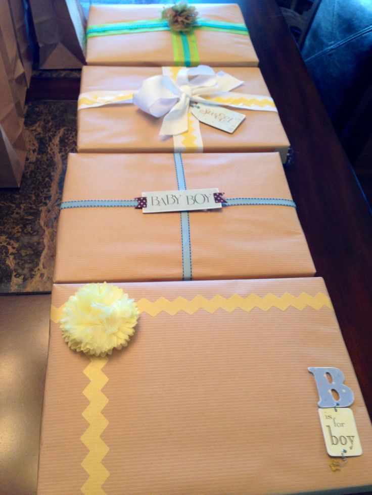 Baby Gift Wrapping Ideas Pinterest : Baby boy gift wrap ideas