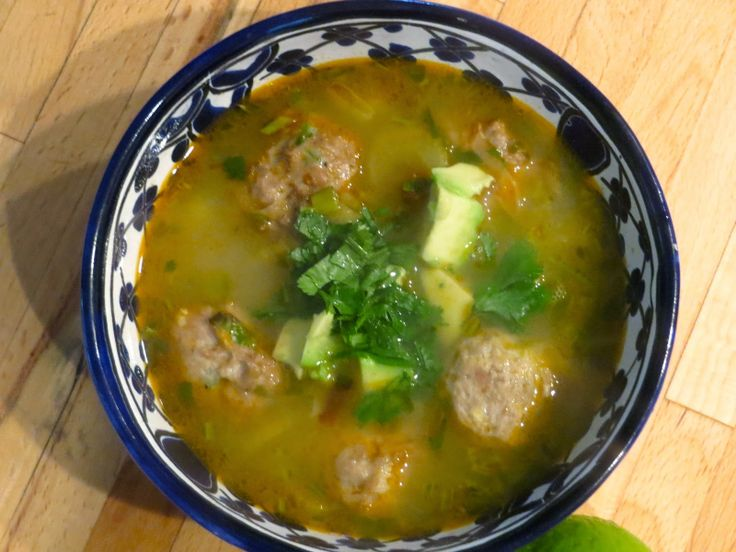 What's for dinner: Mexican turkey meatball soup