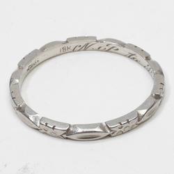 Art deco flower 18k gold eternity wedding band ring vintage estate