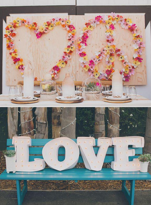 Hippie Wedding Ideas | Boda a la vista » Detalles especiales para el banquete de boda