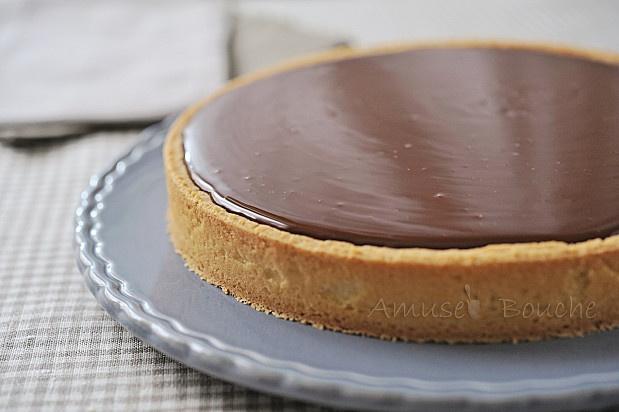 tarte au chocolat et caramel sweet treats pinterest. Black Bedroom Furniture Sets. Home Design Ideas