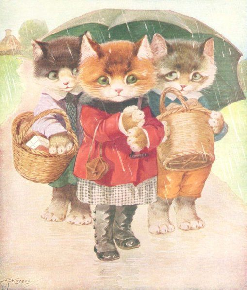 "Illustration by A. E. Kennedy, in ""Just a Funny Book"", Blackie and Son Ltd., undated."