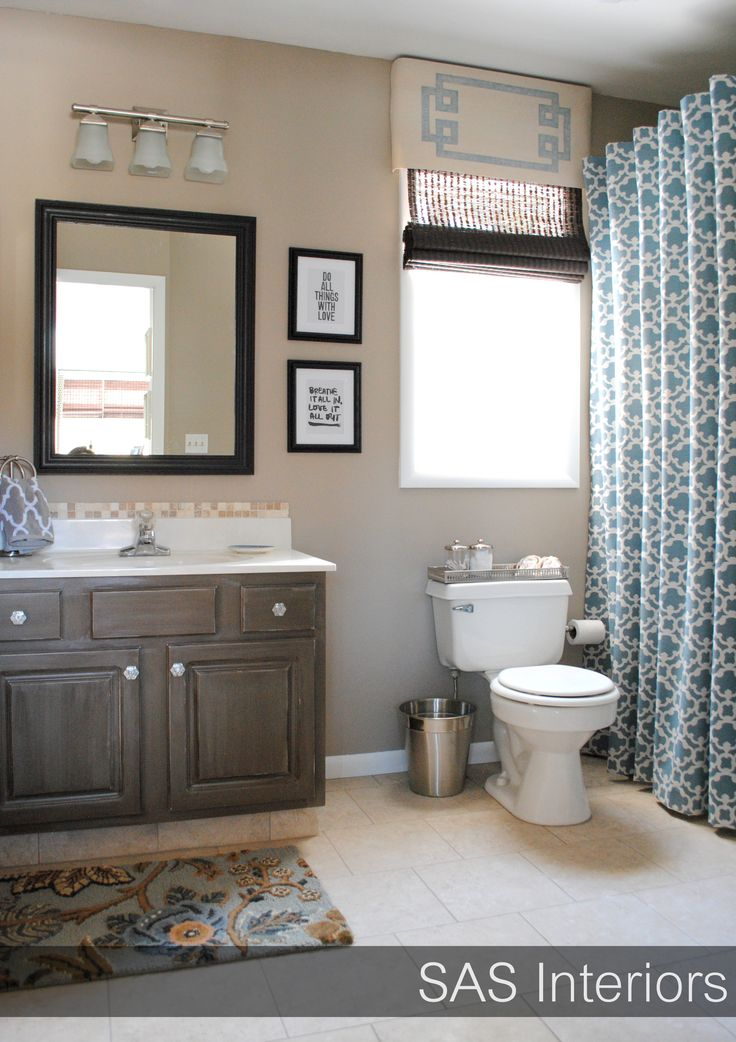 Blue and beige bathroom home design inspiration pinterest Bathroom colors blue and brown
