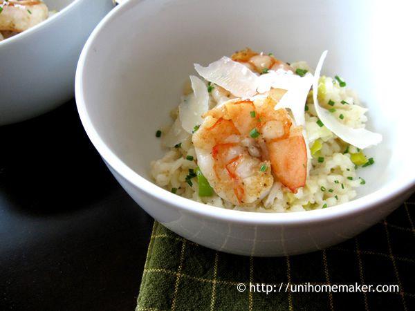 Shrimp Leek and Prosecco Risotto | unihomemaker.com | #recipe #risotto ...