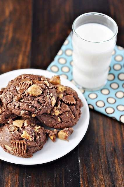 chocolate peanut butter cup cookies | Fattening but so Good | Pintere ...