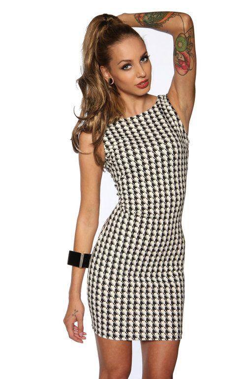 Etui-Kleid, schwarz-weiß  Damenmode  Pinterest