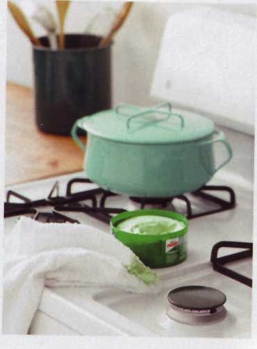 Use car wax to help keep your stove top clean. They suggest before you ...