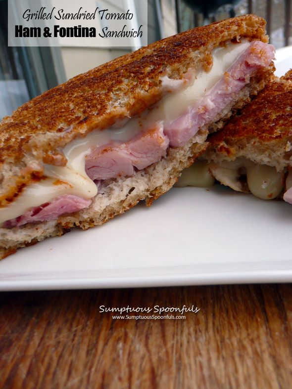 ... Tomato Ham & Fontina Cheese Sandwich ~ Sumptuous Spoonfuls #sandwich #