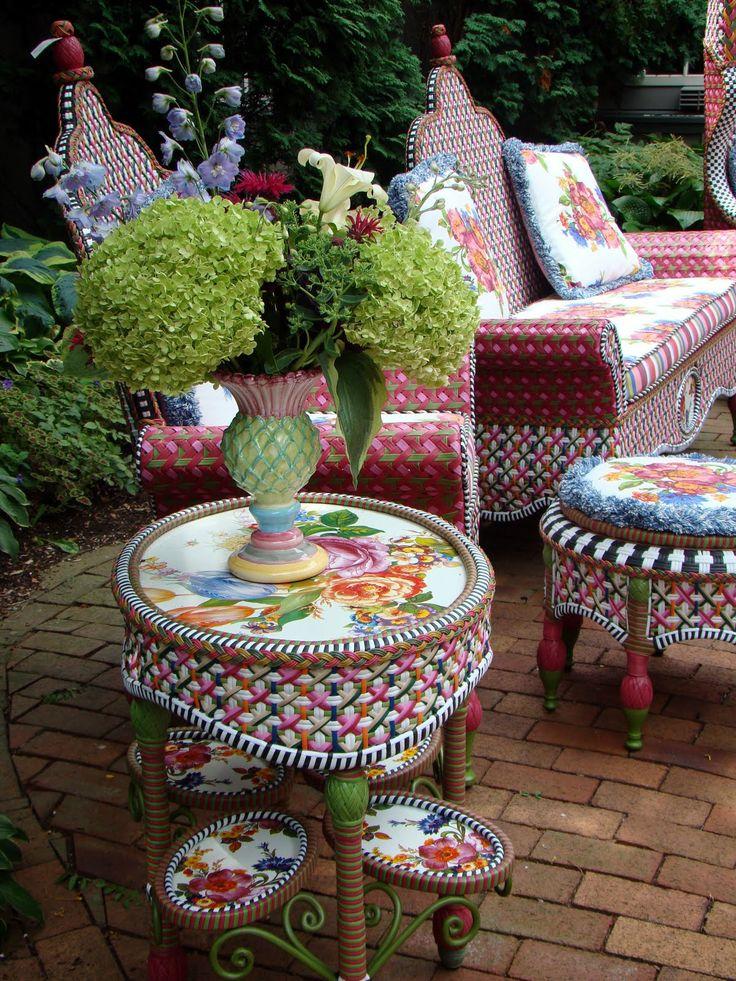 MacKenzie Childs Outdoor Furniture Sunroom Decorating