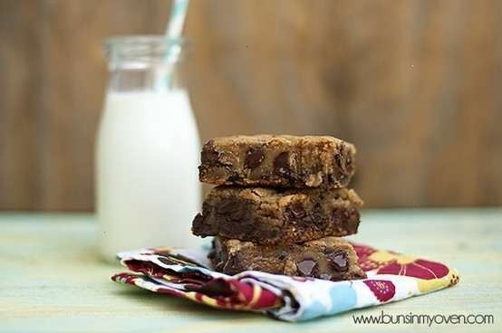 malted chocolate chip cookie bars | food and drink | Pinterest