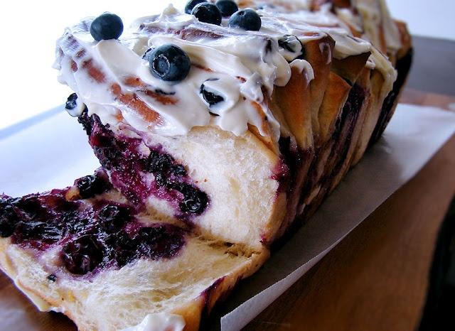 Lemon Blueberry Pull Apart Bread