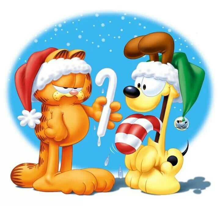 Garfield odie have yourself a very geeky christmas - Garfield noel ...