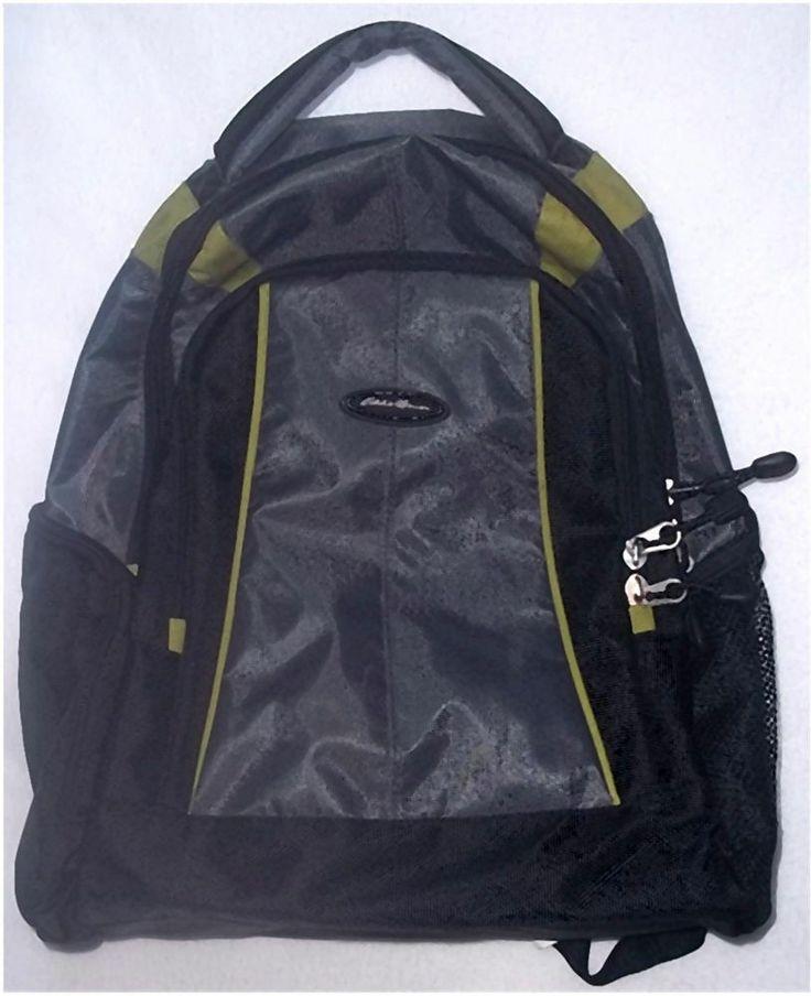 eddie bauer broadmoor baby backpack black gray diaper bag. Black Bedroom Furniture Sets. Home Design Ideas